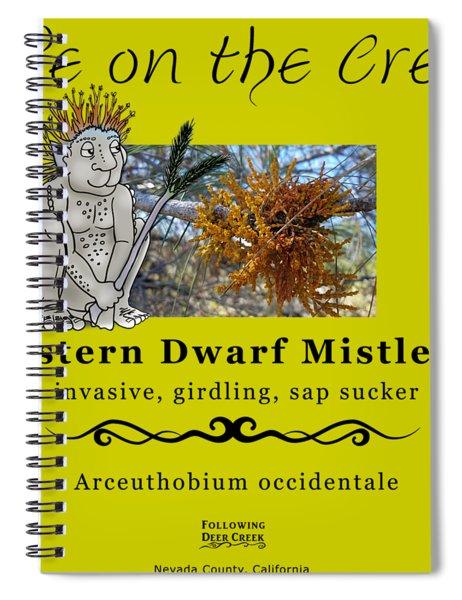 Dwarf Mistletoe Spiral Notebook