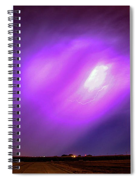 Spiral Notebook featuring the photograph Dying Late Night Supercell 016 by NebraskaSC