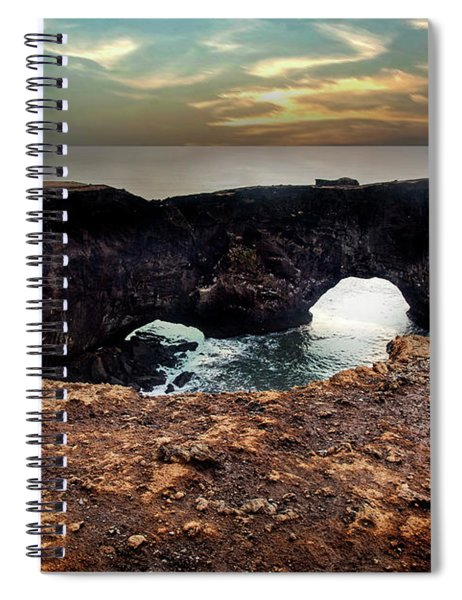 Dyrholaey Viewpoint In Iceland Spiral Notebook