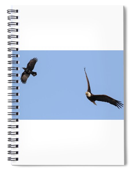 Eagle And Crow  Spiral Notebook