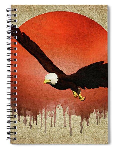 Eagle Flying Spiral Notebook by Jan Keteleer