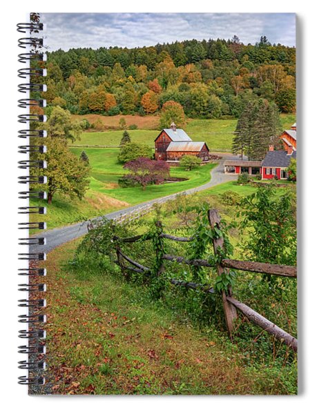Early Fall At Sleepy Hollow Farm Spiral Notebook