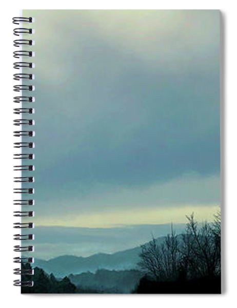 Spiral Notebook featuring the digital art Early Lgiht by Gina Harrison
