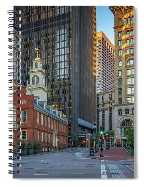 Early Morning At The Old Statehouse Spiral Notebook