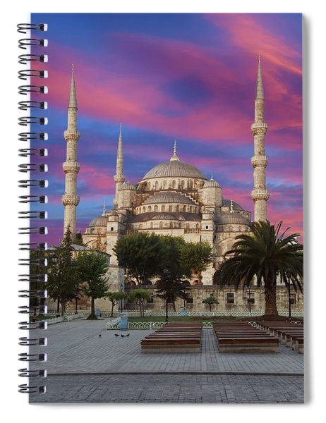 Early Morning Light On  Sultan Ahmet Camii Spiral Notebook