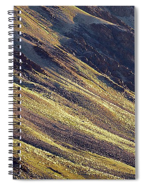 Early Morning Light On The Hillside In Sarchu Spiral Notebook