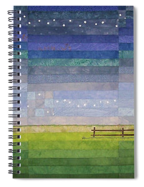 Early Morning Nine Patch Spiral Notebook