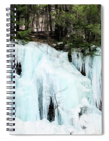 Early Spring Cliff Ice Flow Southern Vermont. Spiral Notebook