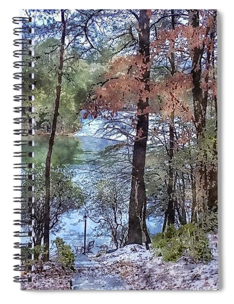 Early Winter At The Lake Spiral Notebook