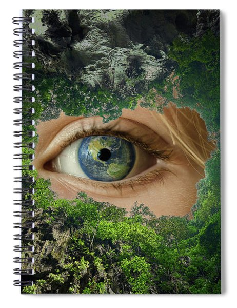 Earth Is Watching You Spiral Notebook