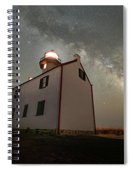 East Point Lighthouse Under The Milky Way  Spiral Notebook
