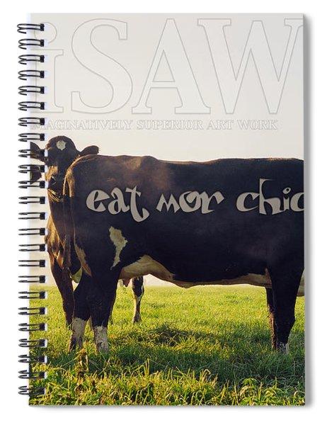 Eat Mor Chickn Spiral Notebook