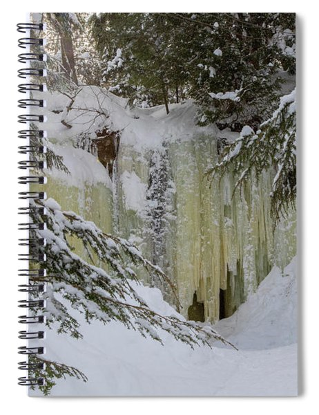 Eben Ice Caves Spiral Notebook