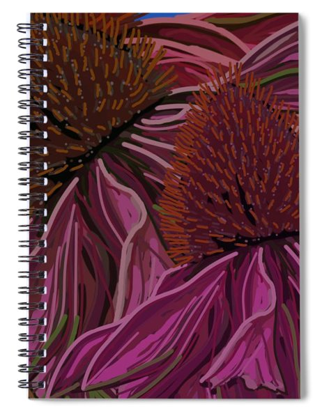 Echinacea Flower Blues Spiral Notebook