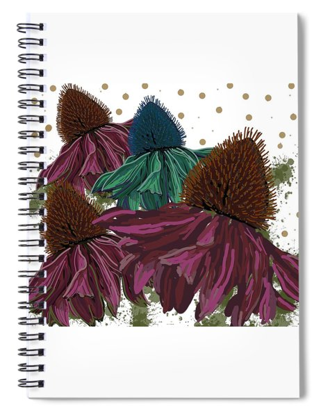 Echinacea Flower Skirts Spiral Notebook