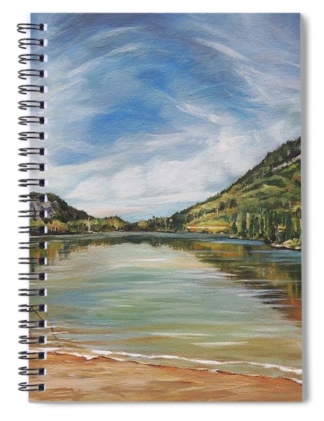Echo Lake In Franconia Notch New Hampshire Spiral Notebook