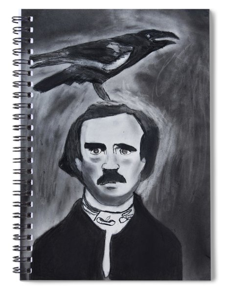 Edgar Allen Poe Drawing Spiral Notebook
