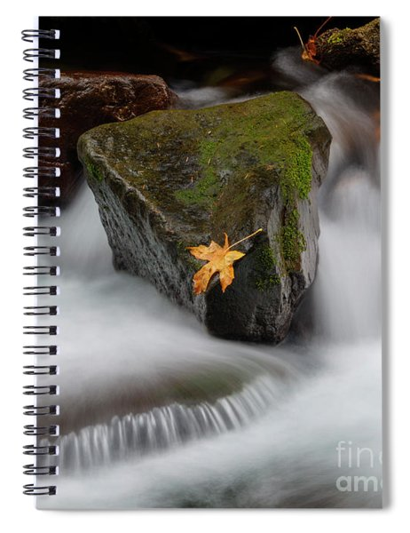 Edge Of The Torrent Spiral Notebook