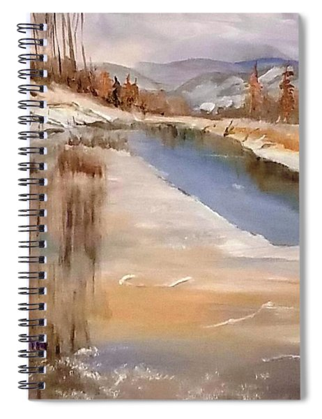 Edge Of Winter Spiral Notebook