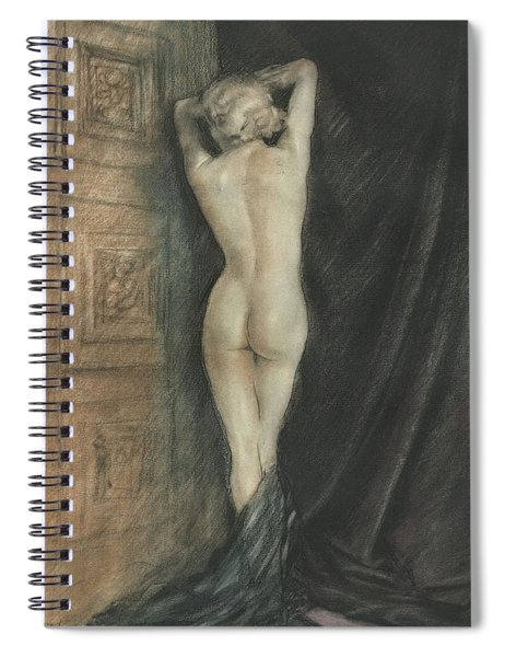 Edouard Chimot Nude In Boudoir  Spiral Notebook