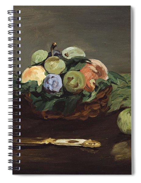 Edouard Manet - Basket Of Fruit  C.1864  Spiral Notebook