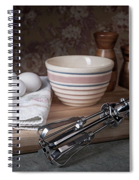 Eggbeater And Eggs Still Life Spiral Notebook