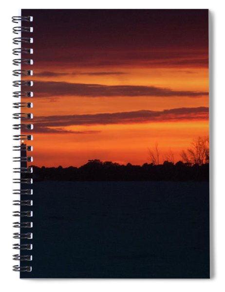 Egmont Key Lighthouse Sunset Spiral Notebook