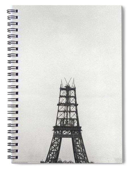 Eiffel Tower, Paris During Construction Spiral Notebook