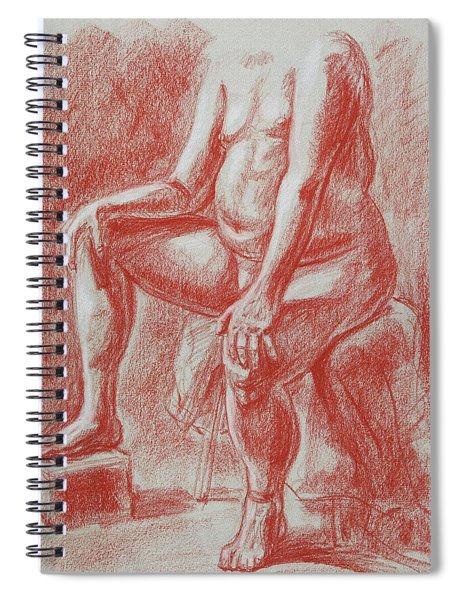 Elderly Male Model Torso Study Spiral Notebook