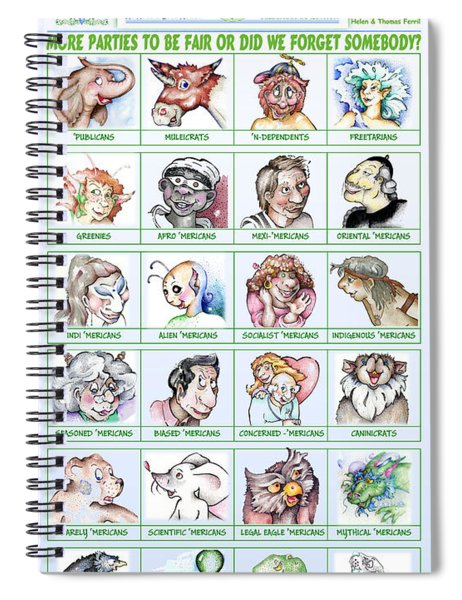 Electable 2020 Candidates Spiral Notebook