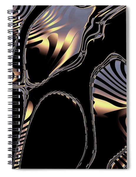 Elegant Black Fractal 1 Spiral Notebook