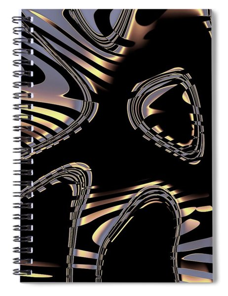 Elegant Black Fractal 2 Spiral Notebook