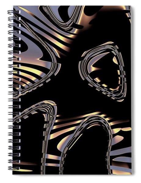 Elegant Black Fractal 2 Spiral Notebook