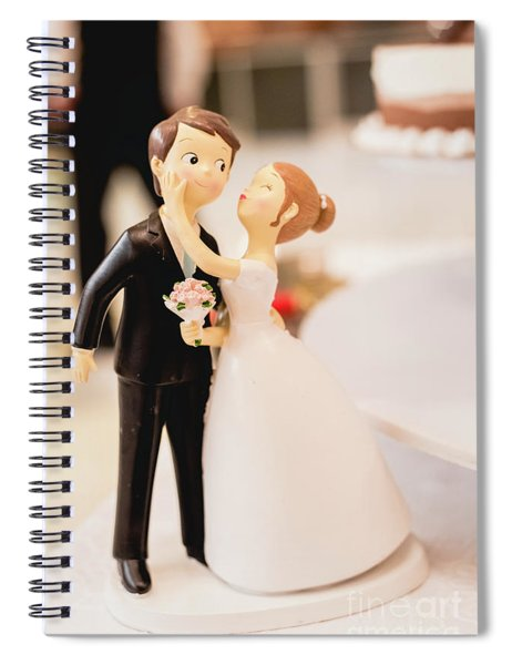 Elegant Wedding Cake Dolls Spiral Notebook
