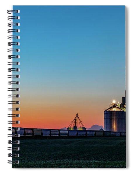Elevator Sunset Spiral Notebook