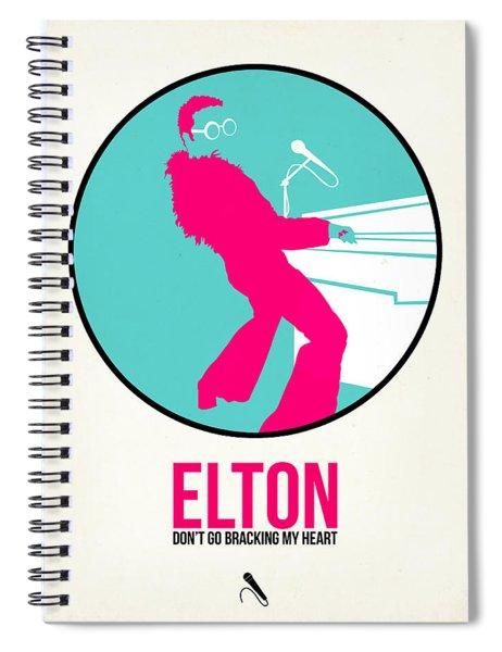 Elton Poster  Spiral Notebook