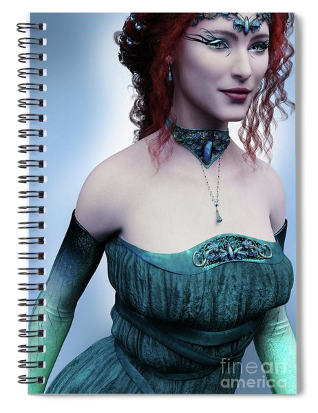 Elven Princess Portrait Spiral Notebook