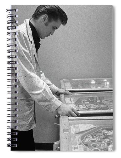Elvis Presley Playing Pinball 1956 Spiral Notebook
