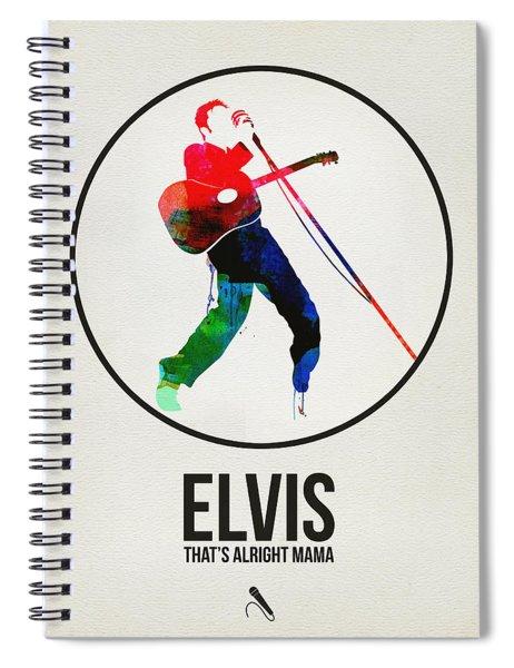Elvis Presley Watercolor Spiral Notebook