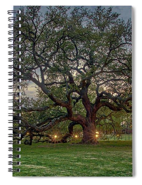 Emancipation Oak At Dusk Spiral Notebook
