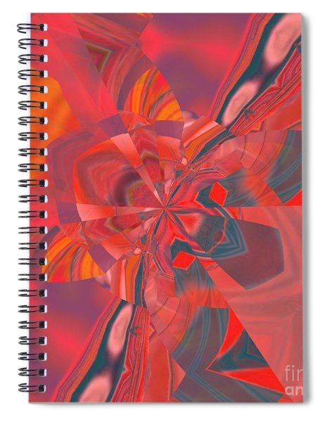 Spiral Notebook featuring the digital art Emotion by A zakaria Mami