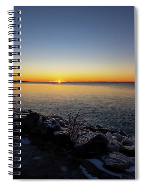 Spiral Notebook featuring the photograph Empire Winter 1 by Heather Kenward