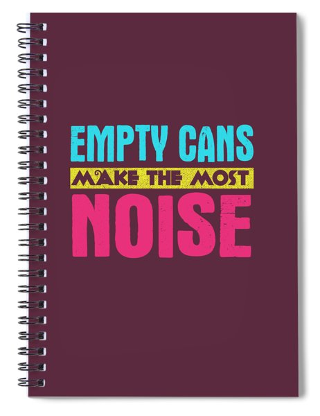 Empty Cans Spiral Notebook
