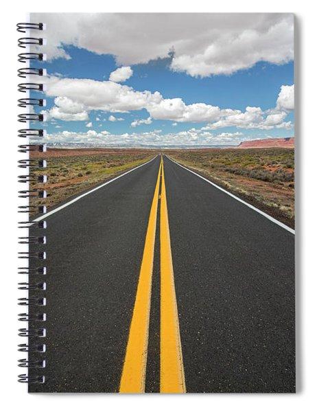 Empty Highway Spiral Notebook