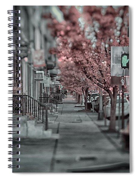 Empty Sidewalk Spiral Notebook