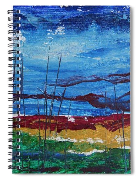 Encaustic Landscape Spiral Notebook