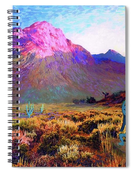 Kokopelli Dawn Spiral Notebook