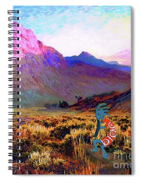 Kokopelli Dawn Spiral Notebook