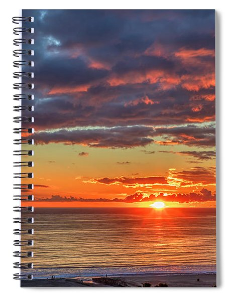 End Of Day Light Show Spiral Notebook