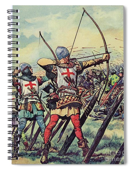 English Bowmen At The Battle Of Crecy Spiral Notebook